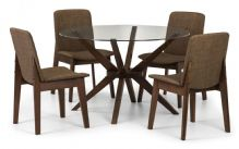 Chelsea Walnut Round Table & 4 Chairs